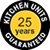 25 year guarantee on our kitchen units