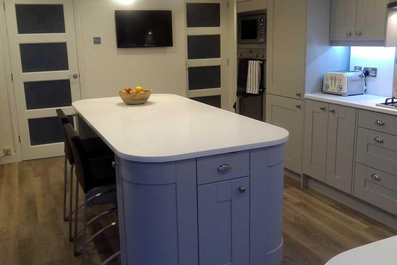 Broadoak Painted Kitchen No Wall Units