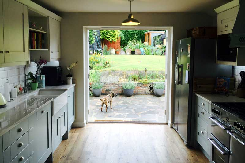 Kelly from herts malton painted in cornflower blue and for Diy kitchens com reviews