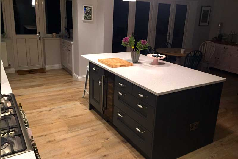 Matt from kibworth bedale graphite cornflower blue we for Perfect kitchen pontefract