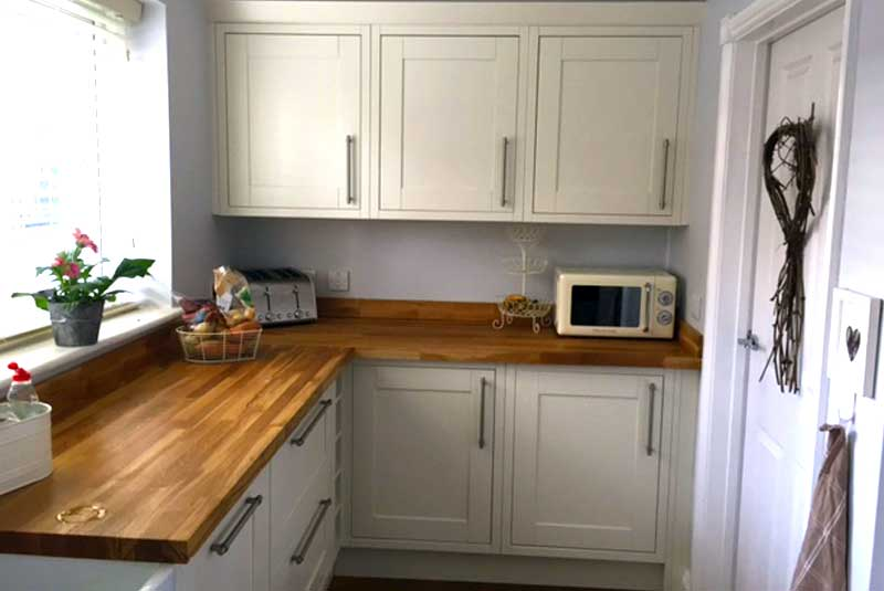 Luca matt white for Diy kitchens com reviews