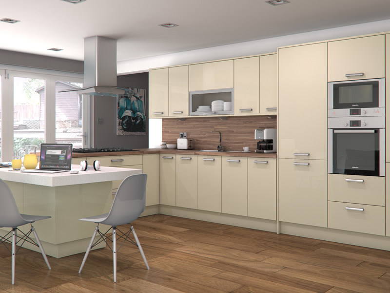 High Gloss Kitchens High Gloss White Cabinets Large Size: Feature Doors Available For Altino Mussel