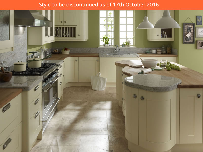 The delicate cream painted finish gives considerable for Service void kitchen units