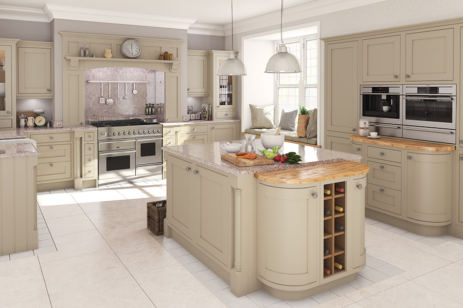Feature doors specification cornice pelmet recommended for Service void kitchen units