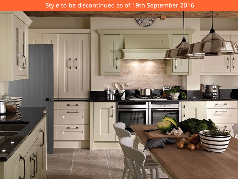 Langhams timeless design with wide rails has an honest and for Service void kitchen units