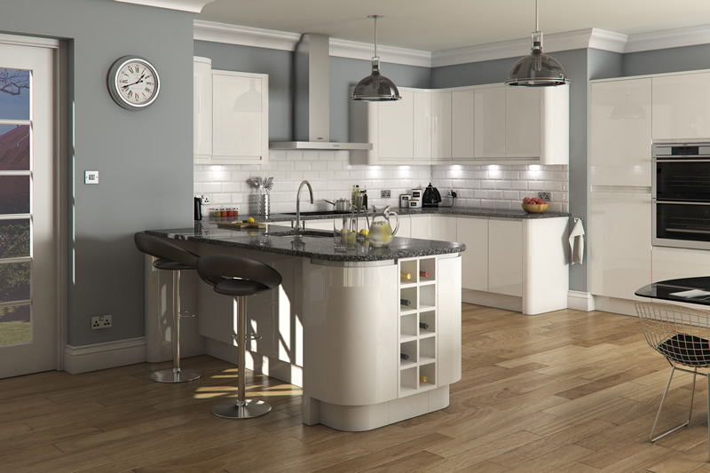 Feature doors specifications cornice pelmet recommended for Kitchen units grey gloss