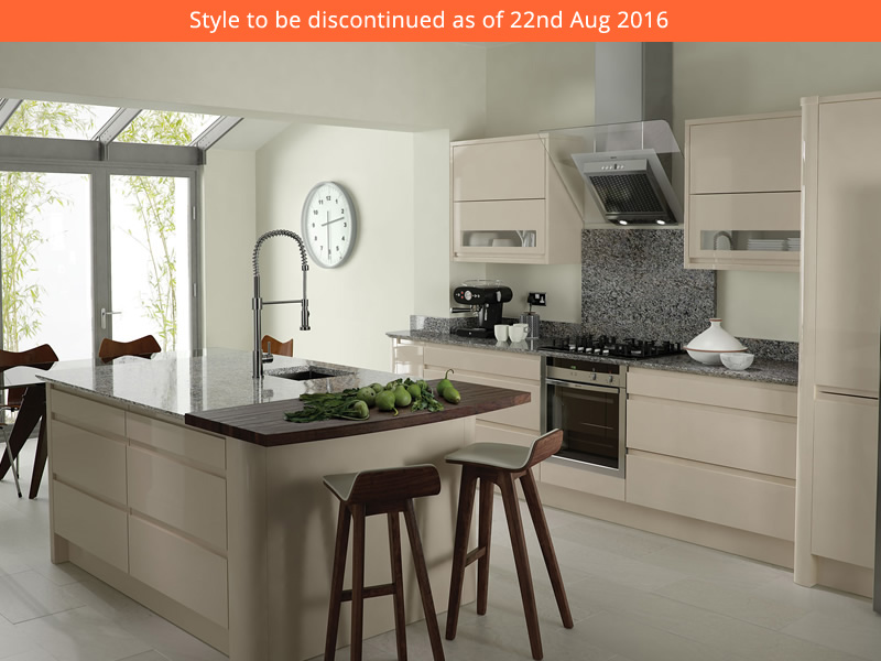 Remo beige kitchens units for Service void kitchen units