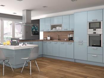 White Gloss Straight Kitchen Plinths