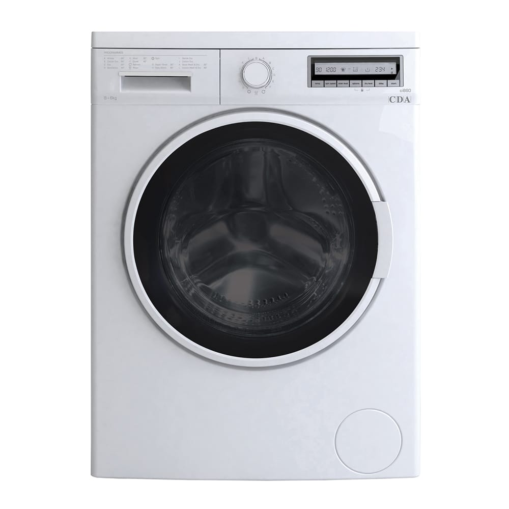 CDA - CI860WH - High capacity freestanding washer dryer