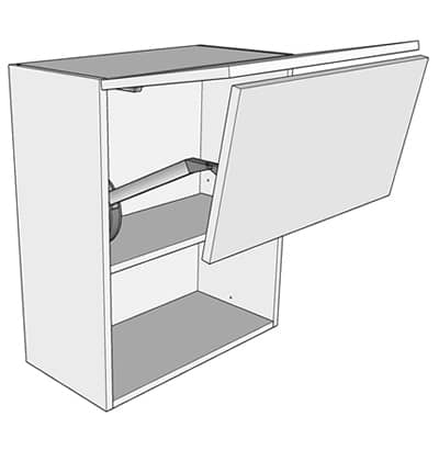 500mm horizontal bi fold single wall unit for Single kitchen wall unit