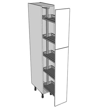 500mm pull out larder unit 1970 high split doors for 300mm deep kitchen units