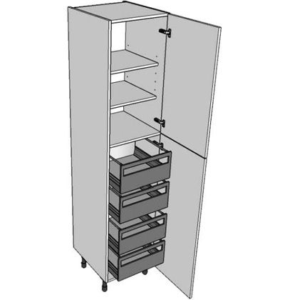 2150mm x 600mm tall larder with internal pan drawers 2 for 600mm tall kitchen unit