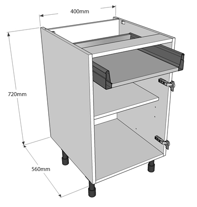 Now offer 3 levels of delivery for complete kitchens we for Single kitchen base unit