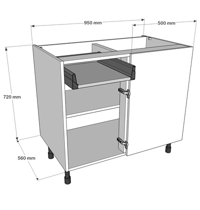 Now offer 3 levels of delivery for complete kitchens we for Kitchen base unit shelf