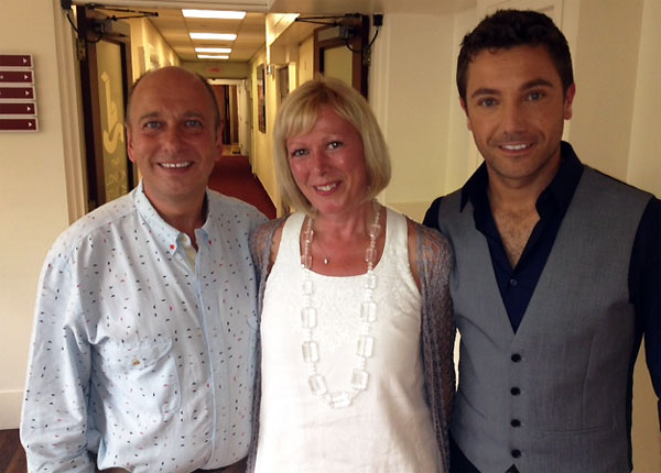 Clive and Sarah Gossop with Gino D'Acampo