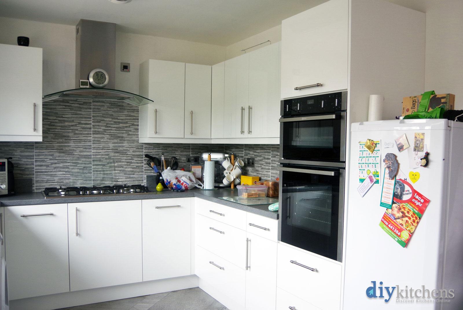 High Gloss White Real Kitchens
