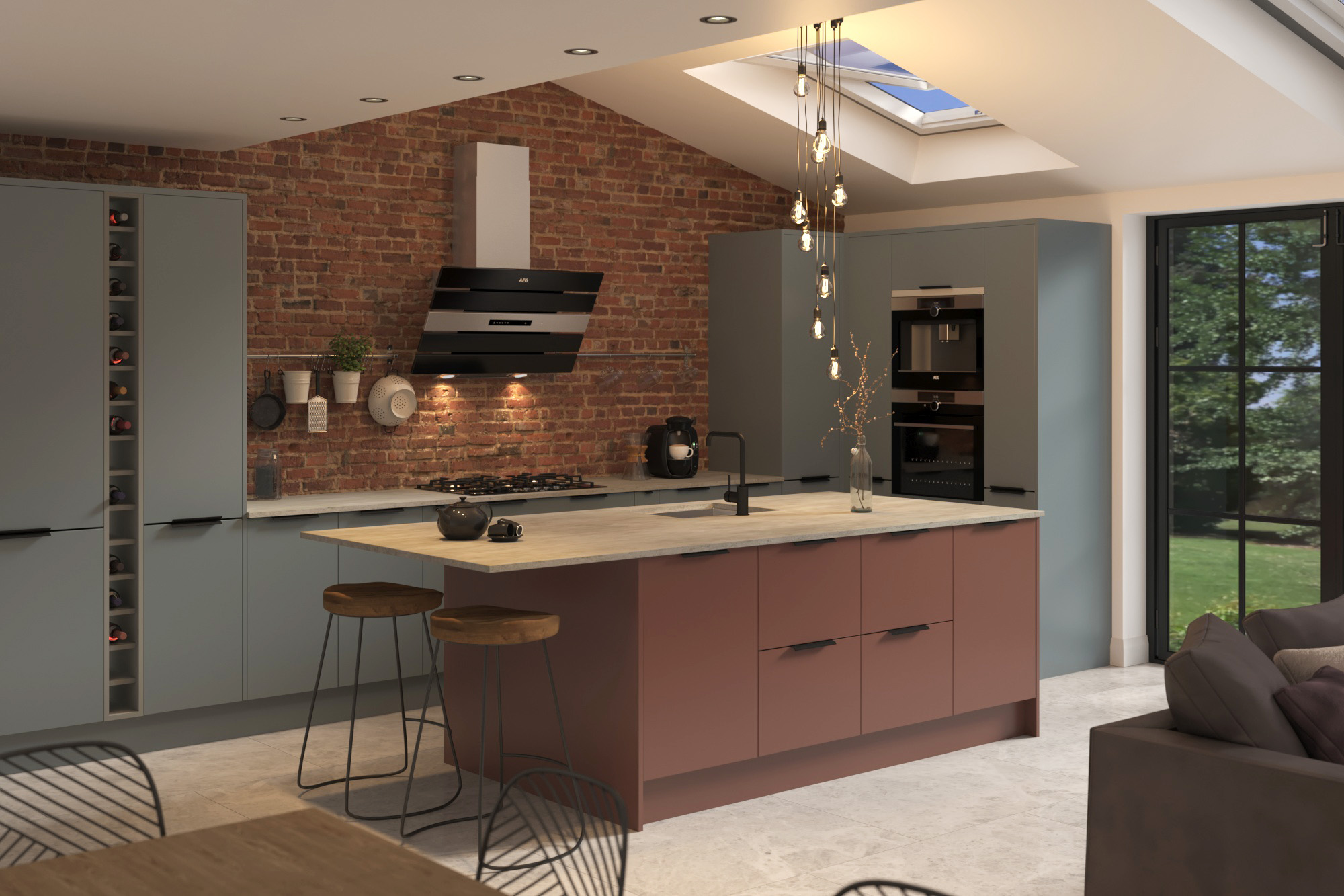 Bespoke painted kitchens