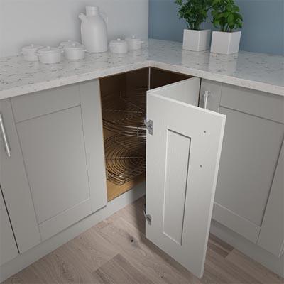 L Shaped Corner Units Kitchen, What Size Are Kitchen Corner Base Units