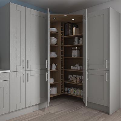 Kitchen Units Diy Kitchens, Full Height Kitchen Corner Cupboards