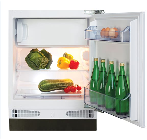 Integrated under counter fridge with ice box