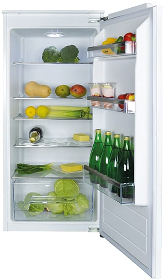 Integrated three-quarter height fridge