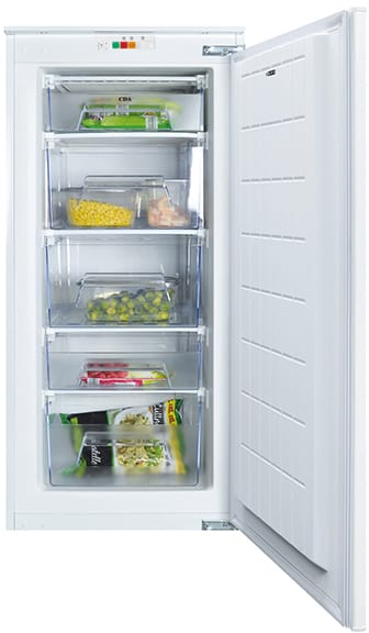 Integrated three-quarter height freezer