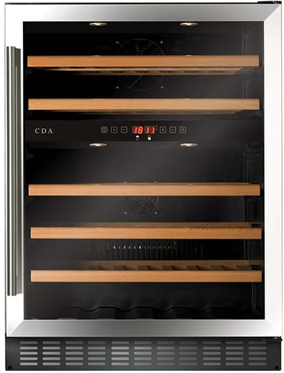 60cm wine cooler, dual zone