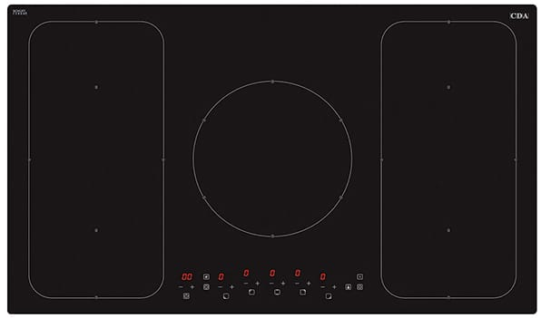 90cm 5 zone induction hob, front control