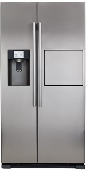 American side by side fridge freezer with bar
