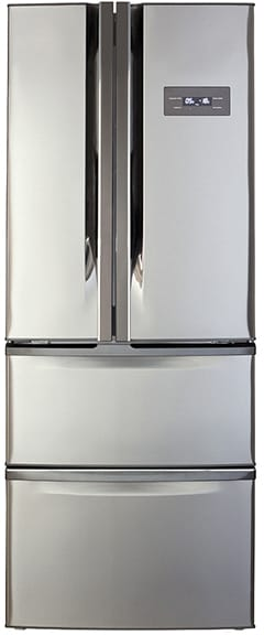 American 2 door fridge with 2 drawer freezer