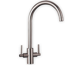 Curvato Curved Spout Tap (Brushed Steel Finish)