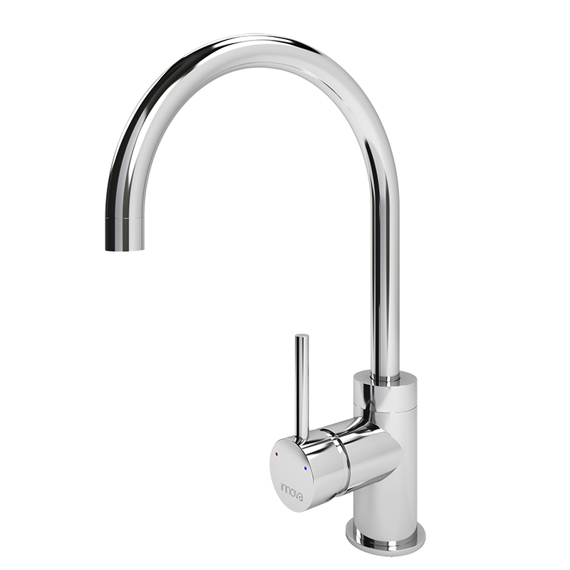 Cenno Curved Spout Tap (Chrome)