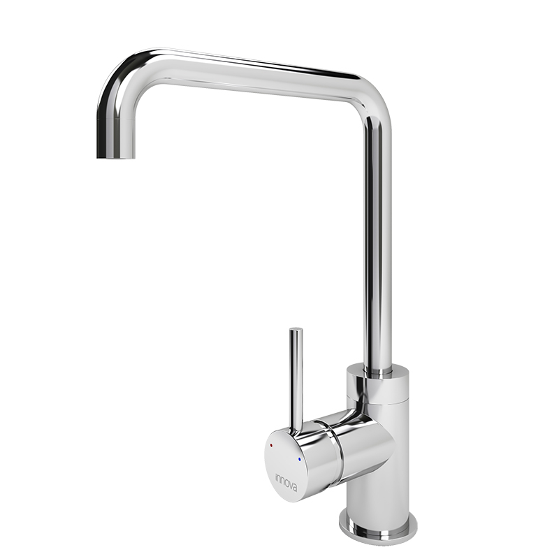 Flusso Square Spout Tap (Chrome Finish)