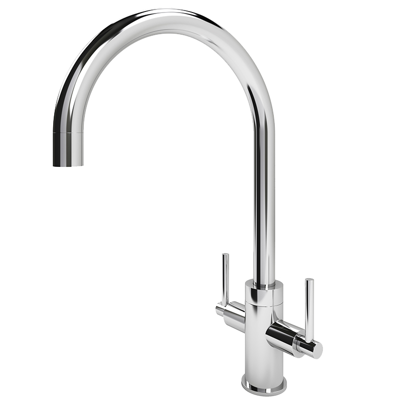 Torrente Curved Spout Tap (Chrome Finish)