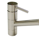 Pluie Angled Spout Tap (Brushed Steel Finish)