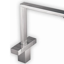 Vesare Square Design Tap (Brushed Steel Finish)