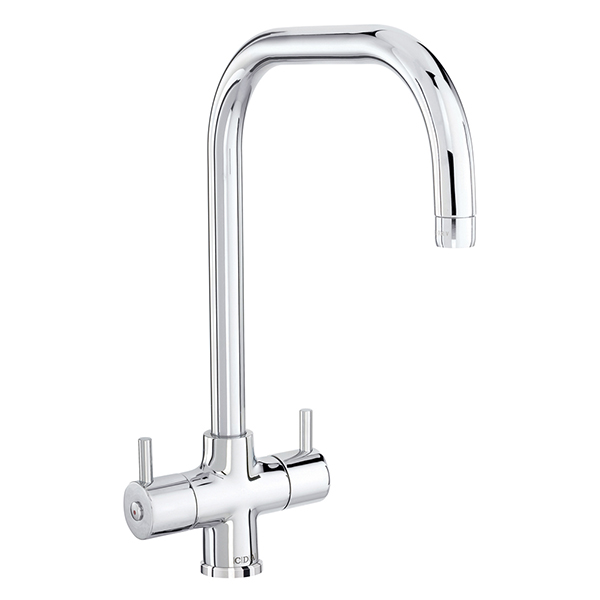 CDA - TC65CH - Contemporary monobloc tap with quad spout, chrome