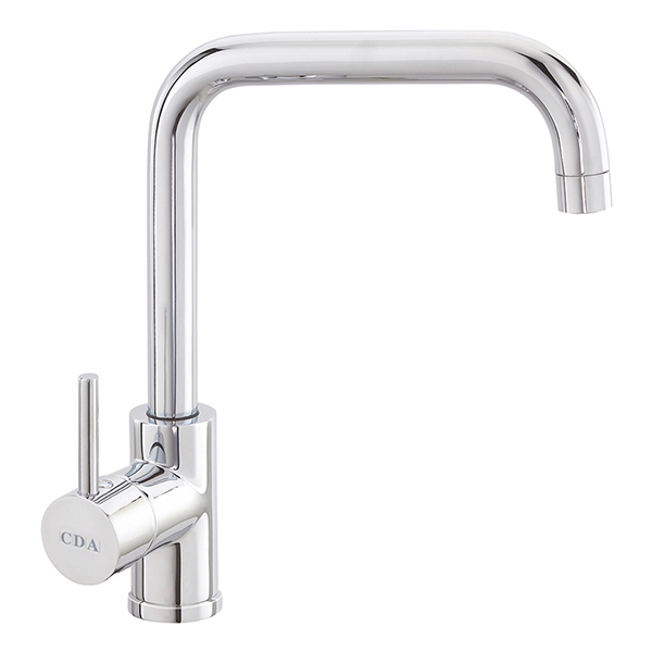 CDA - TC66CH - Contemporary side single lever tap with quad spout, chrome