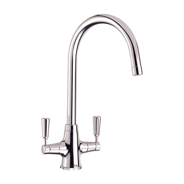 CDA - TT41CH - Traditional quarter turn lever monobloc tap, chrome