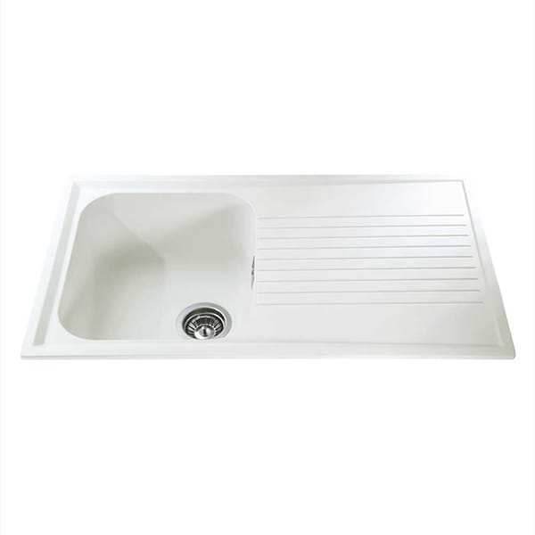 CDA - AS1CM - Composite single bowl sink, cream