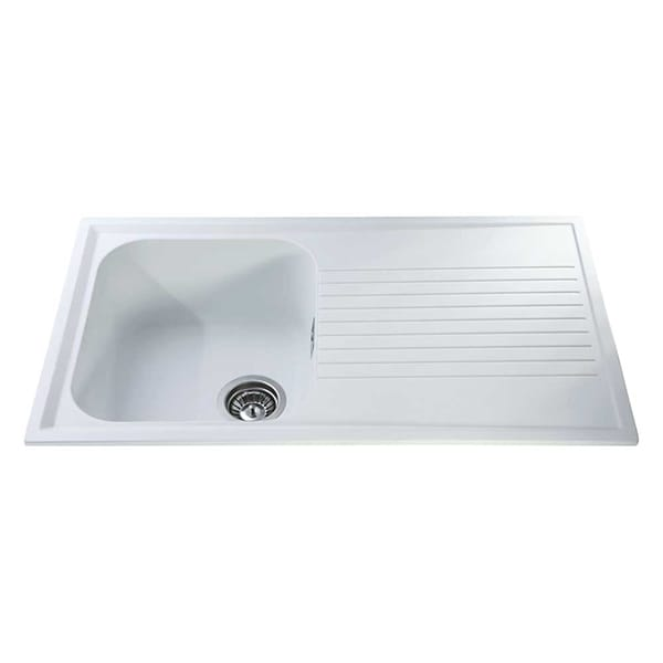 CDA - AS1WH - Composite single bowl sink, white