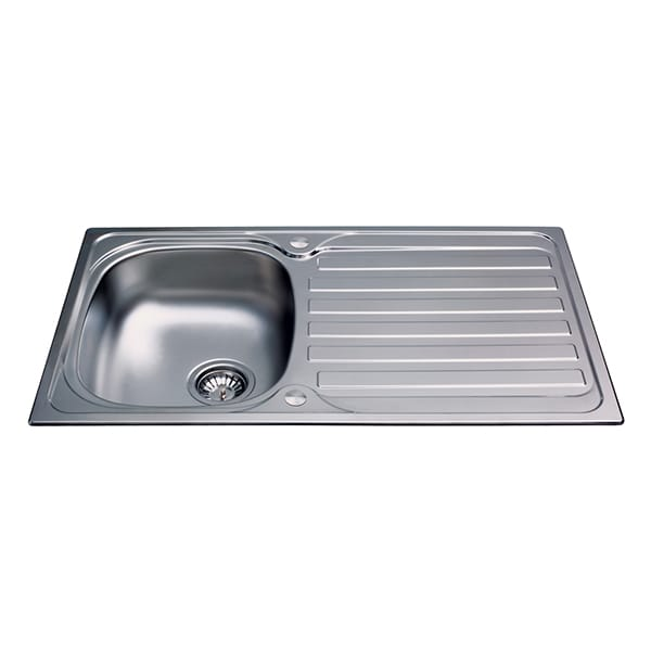 CDA - KA20SS - Compact single bowl sink, stainless steel