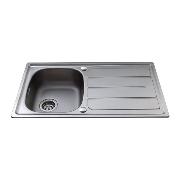 CDA - KA30SS - Compact single bowl sink, stainless steel