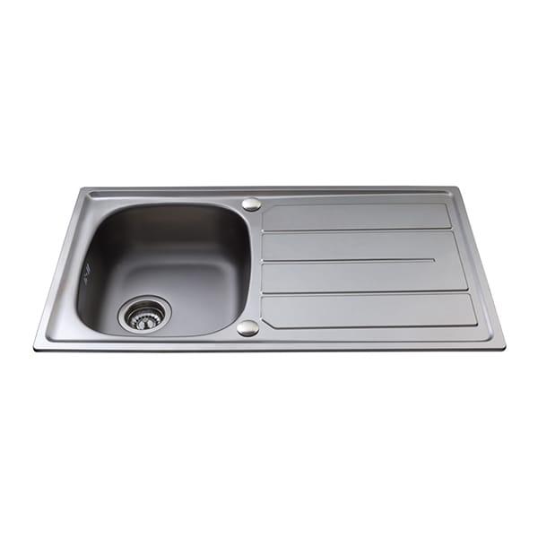 CDA - KA30SS - Compact single bowl sink, stainless steel