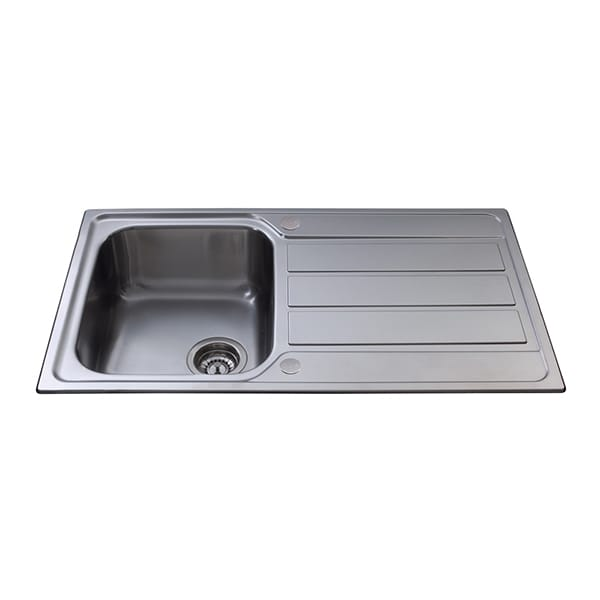 CDA - KA50SS - Compact single bowl sink, stainless steel