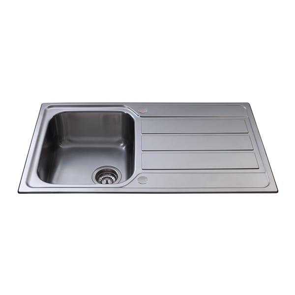 CDA - KA50SS - Compact single bowl sink, stainless steel