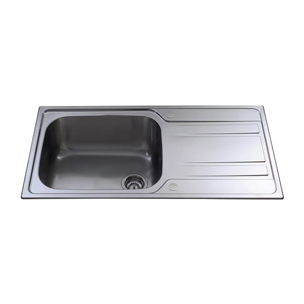 CDA - KA71SS - Large single bowl sink, stainless steel