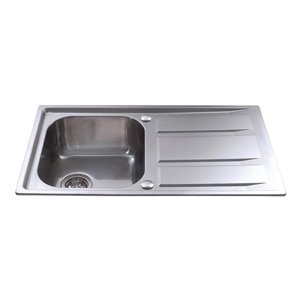CDA - KA80SS - Single bowl sink, stainless steel