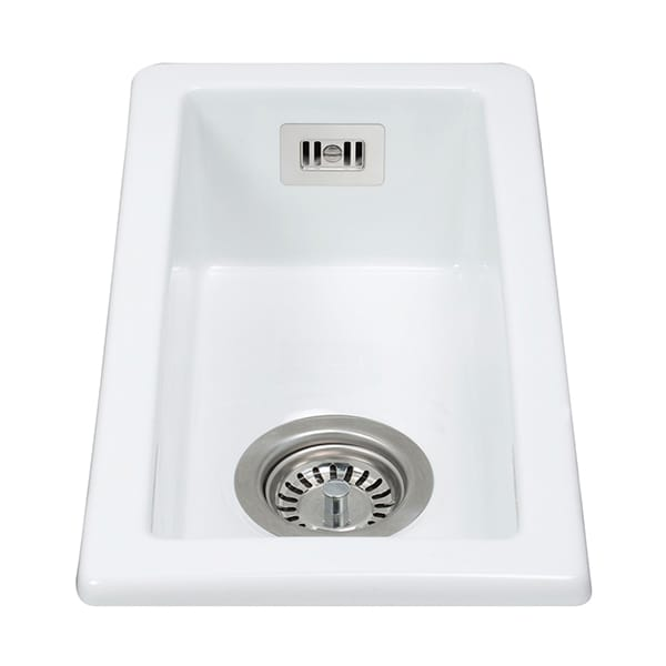 CDA - KC41WH - Ceramic undermount half bowl sink