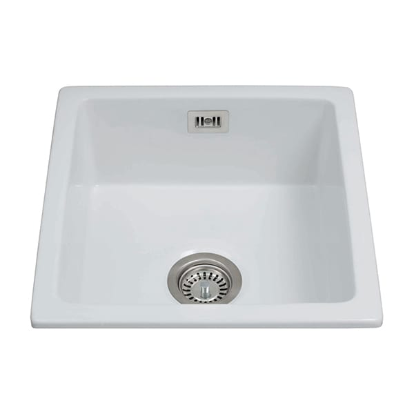 CDA - KC42WH - Ceramic undermount single bowl sink